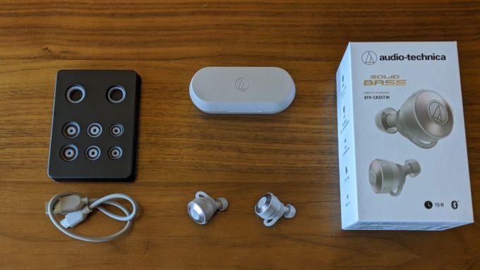 audio technica ATH-CKS5TWのセット内容